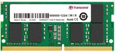 Оперативна пам'ять Transcend SODIMM DDR4-3200 8192 MB PC4-25600 (JM3200HSG-8G)