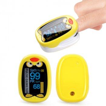Пульсоксиметр на палец детский S8P USB для измерения пульса и уровня кислорода в крови