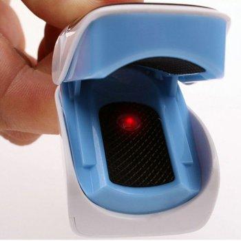 Пульсоксиметр на палец Olive OLV-80A (голубой) для измерения пульса и уровня кислорода в крови