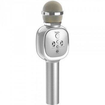 Беспроводной Микрофон Колонка для караоке 2 в 1 HOCO BK4 Soul sound KTV Silver