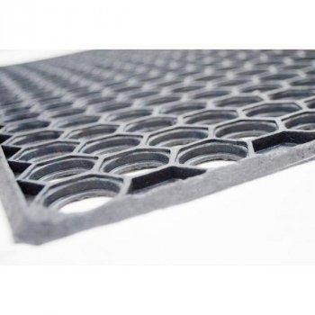 Придверний гумовий килимок Стільники YPR ДО-34 57х71см