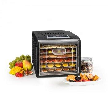 Дегидратор-сушилка для овощей, фруктов и грибов Klarstein Fruit Jerky Plus 6 (10031935) черный