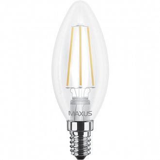 Лампа світлодіодна Maxus C37 FM-C 4 Вт 4100 До 220 В E14 filament 1-LED-538-01 (NL30529139)