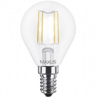 Лампа світлодіодна Maxus G45 FM 4 Вт 4100 До 220 В E14 filament 1-LED-548-01 (NL30529140)