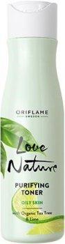 Тоник для лица Oriflame Love Nature для сужения пор с органическим чайным деревом 150мл (34843) (ROZ6400102597)