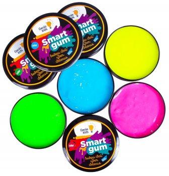 Пластилин для детской лепки Genio Kids Smart Gum Цветное Свечение Зеленый (HG06-3) (4814723005749-3)