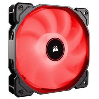 Вентилятор Corsair AF140 LED (2018) Red (CO-9050086-WW), 140х140х25мм, 3-pin, чорний