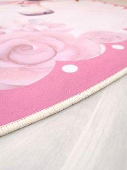 Килимок Комільфо мікрофібра Фламінго 160х160 рожевий КК63