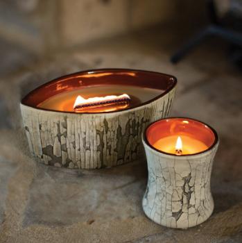 Ароматическая свеча Woodwick Fireplace Ellipse Бежевый (78571E)