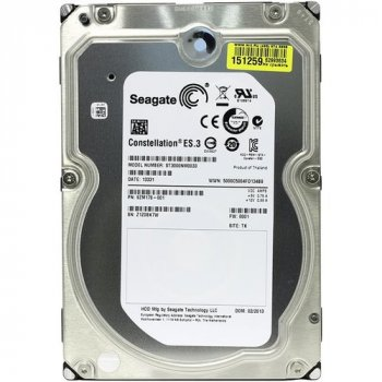 EMC SEAGATE - - Constellon ES.3 (3TB) Hard Drive (7200rpm) 6Gb/s SATA 128MB (ST3000NM0033) Refurbished
