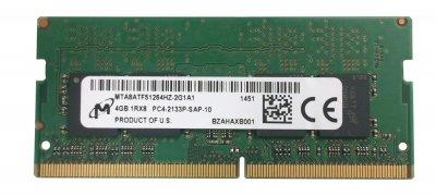 Оперативная память Micron MICRON 4GB (1*4GB) 1RX8 PC4-17000P-S DDR4-2133MHZ SODIMM (MTA8ATF51264HZ-2G1) Refurbished
