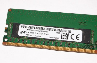 Оперативная память Micron MICRON 8GB (1X8GB) 2RX8 PC4-17000P-E DDR4-2133MHZ ECC DIMM (MTA18ASF1G72AZ-2G1A1ZJ) Refurbished