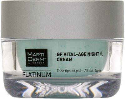 Крем ночной MartiDerm Platinum Gf Vital Age Night Cream Антивозрастной 50 мл (8437015942285)