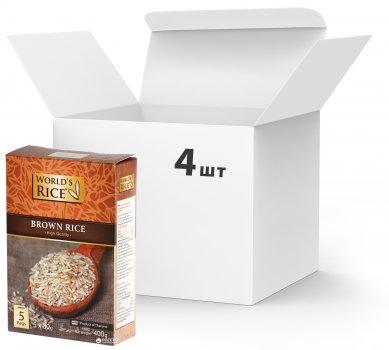 Упаковка риса World's Rice Натурал 4 шт х 400 г (2006600)