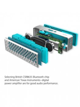 Портативна колонка ROCK Mubox Bluetooth Speaker blue (226D7)