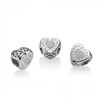 Шарм Pandora style Сердце с логотипом 797375CZ
