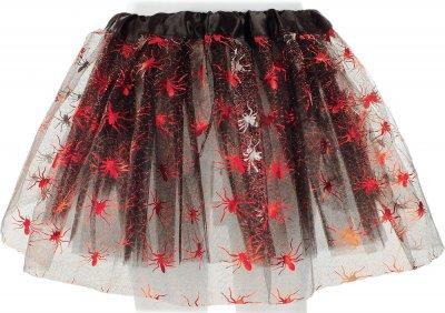 Юбка Seta Decor Паутина Детская Фатиновая 19-184BLK-RD Черная с красным (2000047800012)