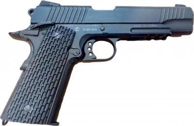 Пистолет пневматический SAS M1911 Tactical черный