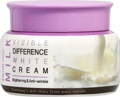 Осветляющий крем для лица Farmstay Visible Difference White Cream Milk с экстрактом молока 100 г (8809636280532)