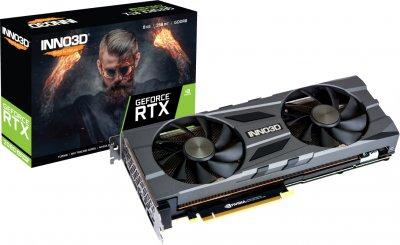 INNO3D PCI-Ex GeForce RTX 2080 Super Twin X2 OC 8GB GDDR6 (256bit) (1830/15500) (HDMI, 3 x DisplayPort) (N208S2-08D6X-11801167)