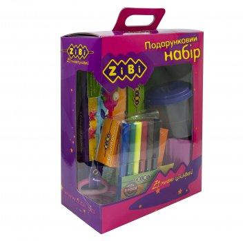 Набор подарочный ZiBi на 13 предметов Розовый для творческих занятий ребенка