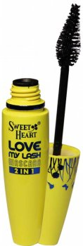 Туш Sweet Heart Love MY Lash 2 in 1 Чорна об'єм + довжина класичний пензель (8858229051295)