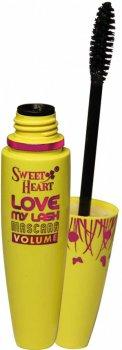 Туш Sweet Heart Love MY Lash Volume Чорна об'єм класичний пензель (8858229051271)