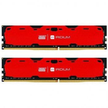 Модуль пам'яті для комп'ютера DDR4 16GB (2x8GB) 2400 MHz Iridium Red GOODRAM (IR-R2400D464L15S/16GDC)