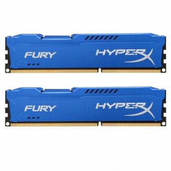 Модуль памьяті для комп'ютера DDR3 16Gb (2x8GB) 1600 MHz HyperX Fury Fury Blu Kingston (HX316C10FK2/16)