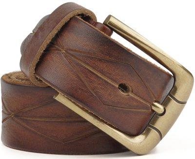 Мужской ремень Vintage leather-20070 Рыжий