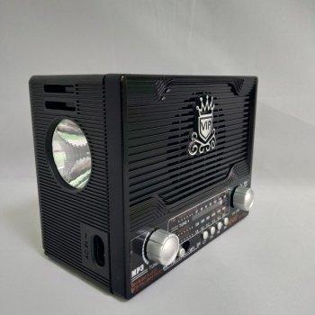 Радиоприемник NNS NS-1556S с солнечной батареей, Bluetooth, воспроизводит USB Flash, SD card, Чёрный