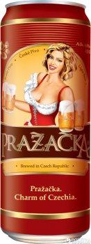 Упаковка пива Prazacka светлое фильтрованное 4% 0.5 л x 24 шт (8594053490472)