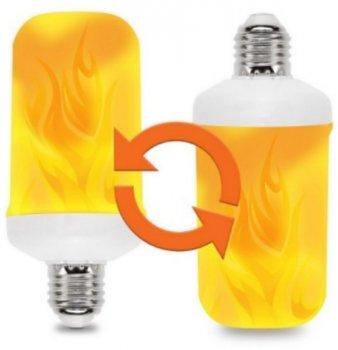 Лампа світлодіодна LED з ефектом вогню язики полум'я спалахує і згасає 3 режими E27 Flame Bulb А+