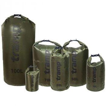 Гермомешок Pvc Diamond Rip-Stop оливковий 100л. Tramp TRA-210-olive