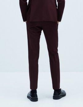 Брюки Zara М0106659 (1564/401/606) цвет бордовый