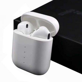 Бездротові навушники i100 TWS блютус з функцією бездротової зарядки кейса.