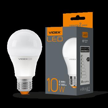Лампа LED Videx 10w E27 3000k 220v 1000 Lm (VL-A60e-10273)