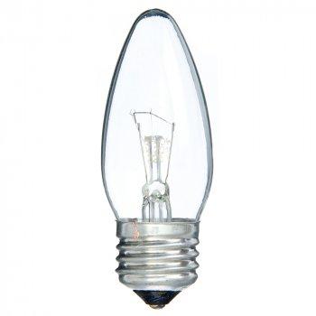 Лампа розжарювання свічка 40С1/CL/E27 240V прозора GE Угорщина