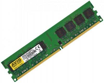 Оперативна пам'ять DDR2-800 4Gb для AMD систем PC2-6400 AVIS AD2F800C16AM2/4 4096MB (770008602)