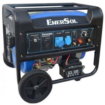 Бензиновый сварочный однофазный генератор EnerSol мощностью 7.0 кВА