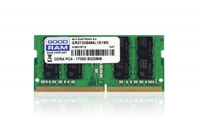 Модуль памяти для ноутбука SoDIMM DDR4 16GB 2133 MHz GOODRAM (GR2133S464L15/16G)