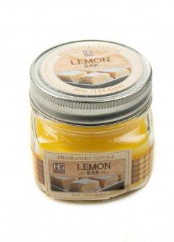 """Аромасвічки в баночці """"Лимонний пиріг"""" HG Global 7см Жовтий, Прозорий (DI661014257474)"""