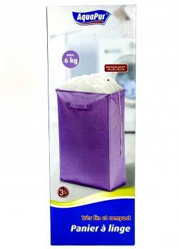 Короб для одягу бузковий AquaPur бузковий-білий M17-110074