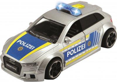 Машина Dickie Toys SOS Полиция Audi со световыми и звуковыми эффектами 15 см (3713011)