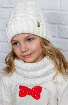Зимняя шапка Anmerino Гретта 50-52 см Белая (4823055540347)