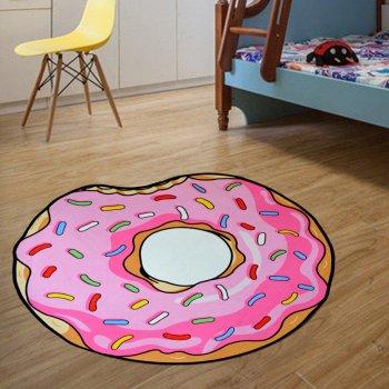 Безворсовий Килимок 3D для будинку Пончик 80см Круглий New Design