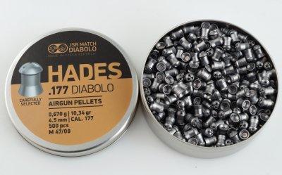 Пули JSB Diabolo Hades (0.67г, 500 шт)