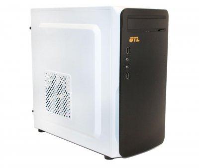 Корпус GTL Micro B-WH White/Black, 450W, 120mm, Micro ATX, 2 x 3.5mm, USB2.0 x 2, 5.25' x 1, 3.5' x 3, 2.5' x 2, 0.4mm