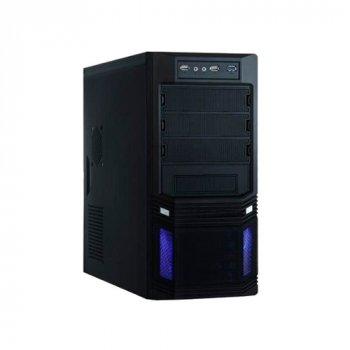 Корпус Golden Field 1331B Black, 490W, 120mm, ATX / Micro ATX / Mini ITX, 3.5mm х 2, USB2.0 x 1, USB3.0 x 1, 5.25' x 4, 3.5' x 6