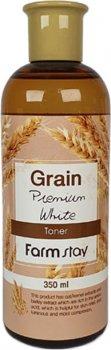 Выравнивающий тонер FarmStay Grain Premium White Toner с экстрактом ростков пшеницы 350 мл (8809426958917)